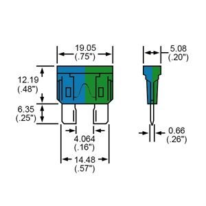 Durite Fuse Blade Type Blue/Green 35A