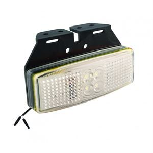 LED Autolamps LED1491WM2P – Front End Marker Lamp /w 2-Pin Harness Connector and Bracket (12/24V)