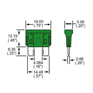 Durite Fuse Blade Type Green 30A