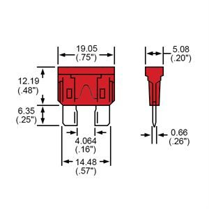 Durite Fuse Blade Type Red 10A