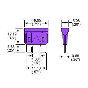 Durite Fuse Blade Type Violet 3A