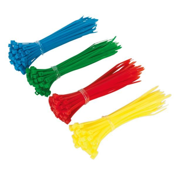 Sealey CT200 Cable Tie Assorted 100 x 2.5mm Pack of 200