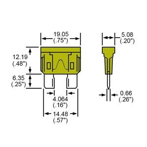 Durite Fuse Blade Type Yellow 20A