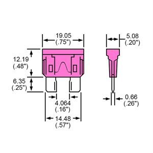 Durite Fuse Blade Type Pink 4A